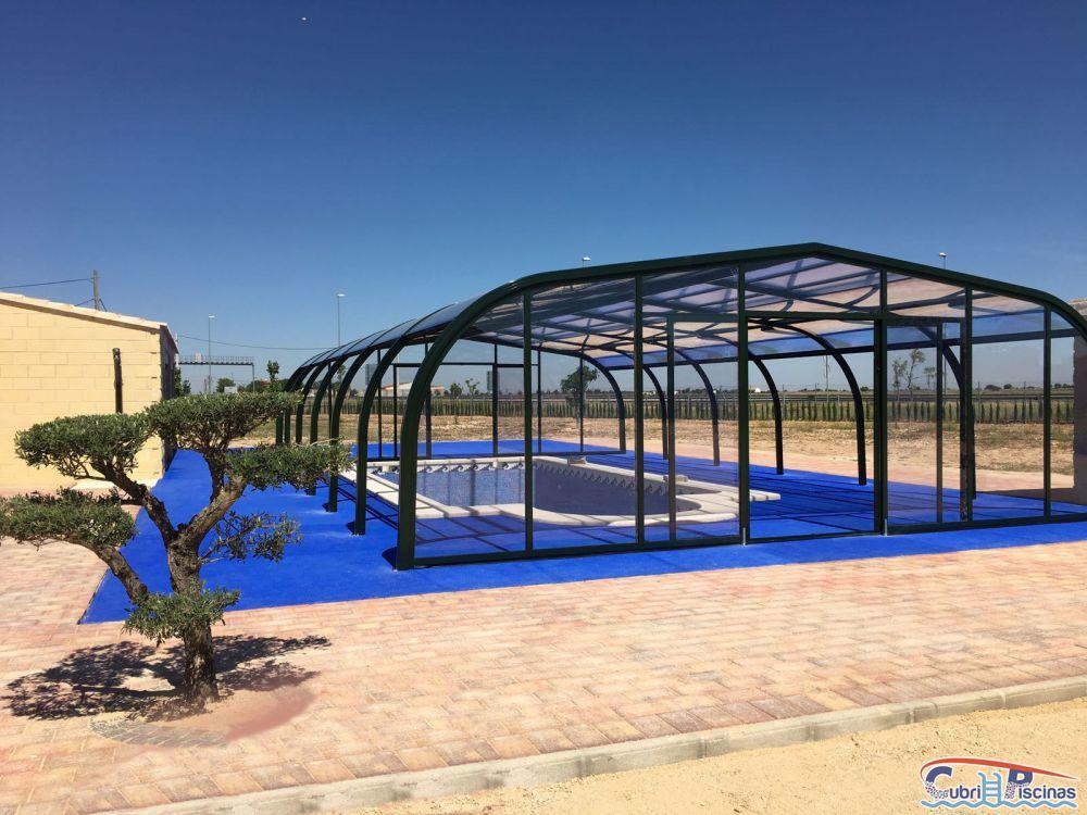 Cubripiscinas cubiertas de piscinas para casas rurales proyectos - Casa rural con piscina cubierta ...