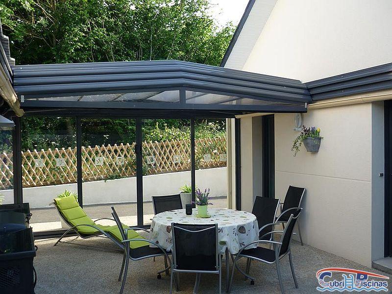 Cubiertas para patios interiores fabulous cerramiento de terrazacon techo mvil y cortinas de - Cubiertas para patios interiores ...